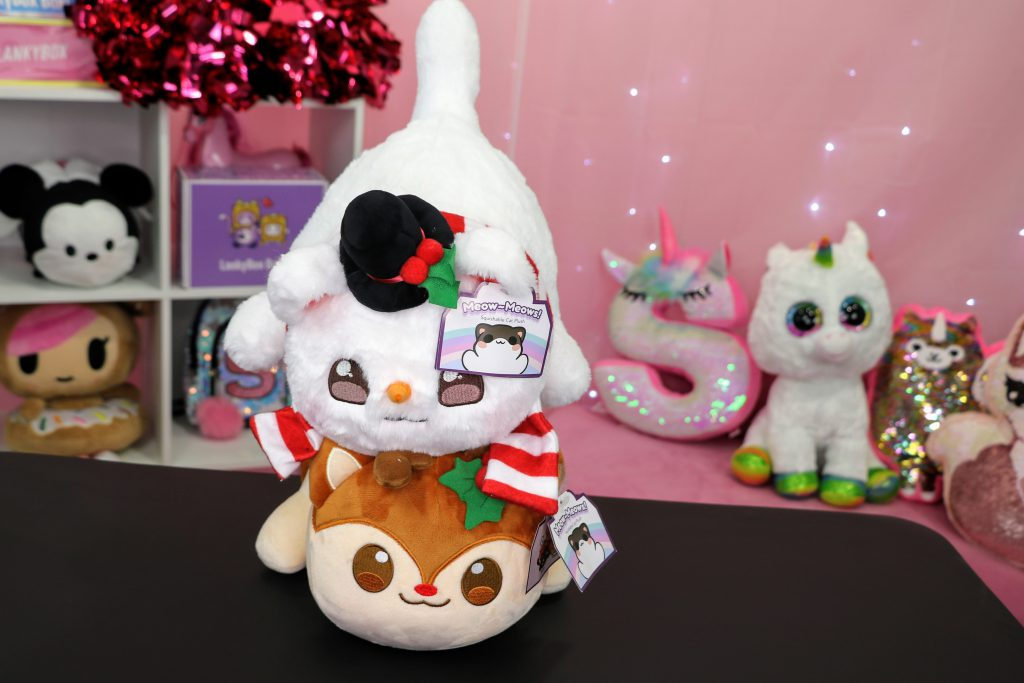 Aphmau Snowman Cat and Reindeer Cat Merch Plush Toys