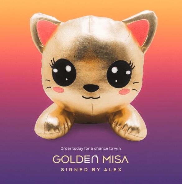 Golden Miss Misa signed by Alex InquisitorMaster shopwithmisa.com
